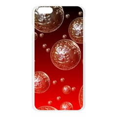 Background Red Blow Balls Deco Apple Seamless iPhone 6 Plus/6S Plus Case (Transparent)