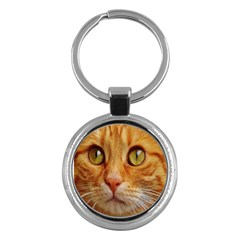 Cat Red Cute Mackerel Tiger Sweet Key Chains (Round)