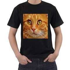 Cat Red Cute Mackerel Tiger Sweet Men s T Shirt (black) (two Sided)