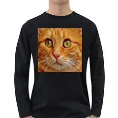 Cat Red Cute Mackerel Tiger Sweet Long Sleeve Dark T-Shirts