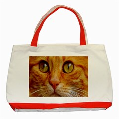 Cat Red Cute Mackerel Tiger Sweet Classic Tote Bag (Red)