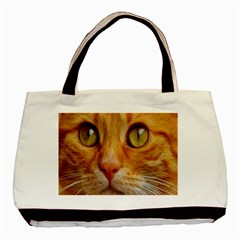 Cat Red Cute Mackerel Tiger Sweet Basic Tote Bag (Two Sides)