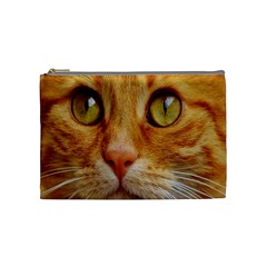 Cat Red Cute Mackerel Tiger Sweet Cosmetic Bag (Medium)