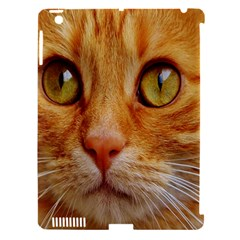 Cat Red Cute Mackerel Tiger Sweet Apple iPad 3/4 Hardshell Case (Compatible with Smart Cover)