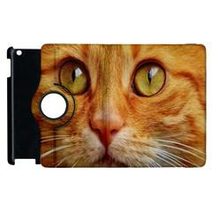 Cat Red Cute Mackerel Tiger Sweet Apple iPad 3/4 Flip 360 Case