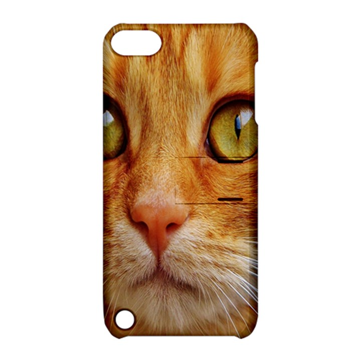Cat Red Cute Mackerel Tiger Sweet Apple iPod Touch 5 Hardshell Case with Stand
