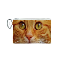 Cat Red Cute Mackerel Tiger Sweet Canvas Cosmetic Bag (S)