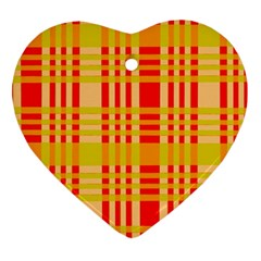 Check Pattern Ornament (Heart)