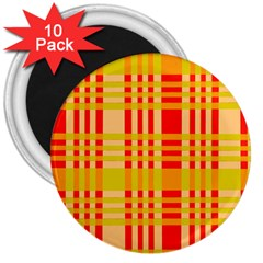 Check Pattern 3  Magnets (10 pack)