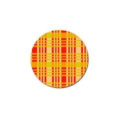 Check Pattern Golf Ball Marker