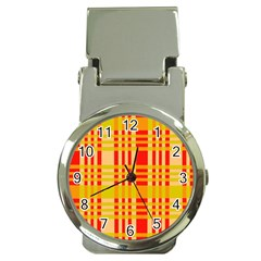 Check Pattern Money Clip Watches