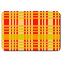 Check Pattern Large Doormat