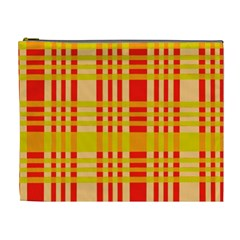 Check Pattern Cosmetic Bag (XL)