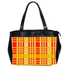 Check Pattern Office Handbags (2 Sides)