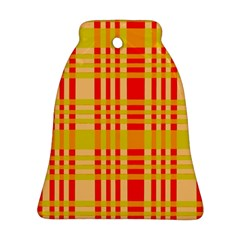 Check Pattern Bell Ornament (Two Sides)