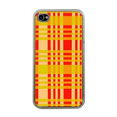 Check Pattern Apple iPhone 4 Case (Clear)