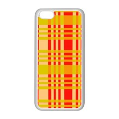 Check Pattern Apple Iphone 5c Seamless Case (white)
