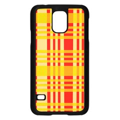 Check Pattern Samsung Galaxy S5 Case (Black)