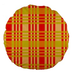 Check Pattern Large 18  Premium Flano Round Cushions