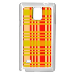 Check Pattern Samsung Galaxy Note 4 Case (White)