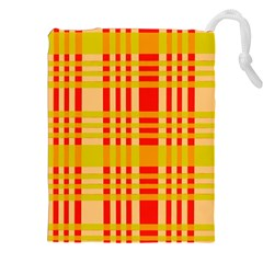 Check Pattern Drawstring Pouches (XXL)