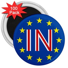 Britain Eu Remain 3  Magnets (100 pack)