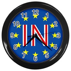 Britain Eu Remain Wall Clocks (black)