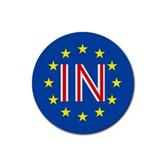 Britain Eu Remain Rubber Coaster (Round)