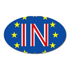 Britain Eu Remain Oval Magnet