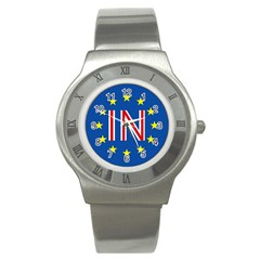 Britain Eu Remain Stainless Steel Watch