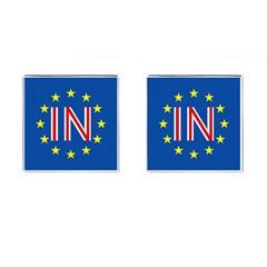 Britain Eu Remain Cufflinks (Square)