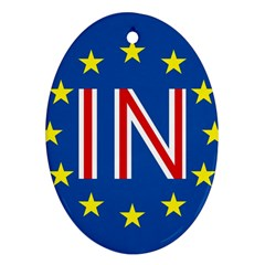 Britain Eu Remain Oval Ornament (Two Sides)