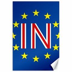 Britain Eu Remain Canvas 24  x 36