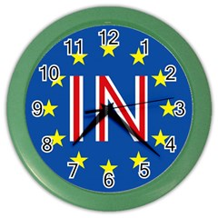 Britain Eu Remain Color Wall Clocks