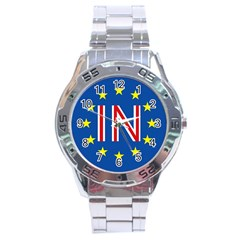Britain Eu Remain Stainless Steel Analogue Watch