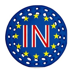 Britain Eu Remain Round Filigree Ornament (Two Sides)