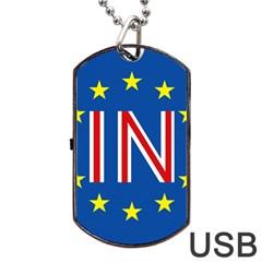 Britain Eu Remain Dog Tag USB Flash (One Side)