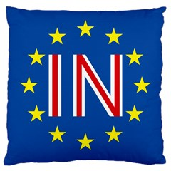 Britain Eu Remain Large Cushion Case (One Side)