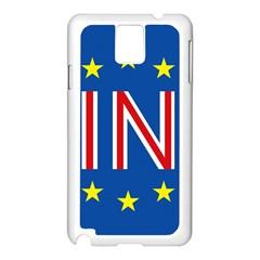 Britain Eu Remain Samsung Galaxy Note 3 N9005 Case (White)
