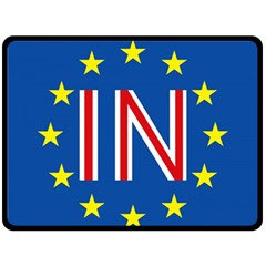 Britain Eu Remain Double Sided Fleece Blanket (Large)