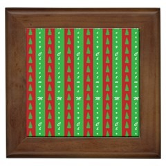 Christmas Tree Background Framed Tiles