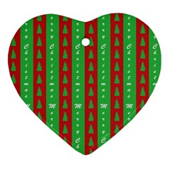 Christmas Tree Background Ornament (Heart)