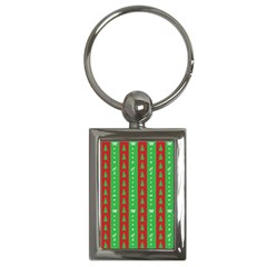 Christmas Tree Background Key Chains (Rectangle)