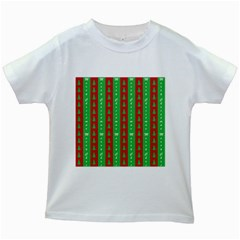 Christmas Tree Background Kids White T-Shirts