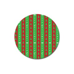 Christmas Tree Background Magnet 3  (Round)