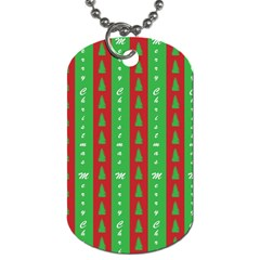 Christmas Tree Background Dog Tag (One Side)