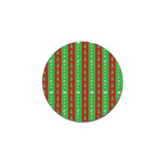 Christmas Tree Background Golf Ball Marker