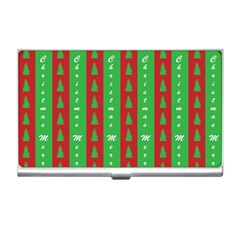 Christmas Tree Background Business Card Holders