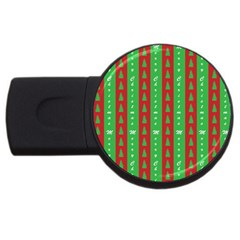 Christmas Tree Background USB Flash Drive Round (1 GB)