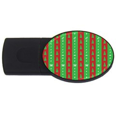 Christmas Tree Background USB Flash Drive Oval (1 GB)